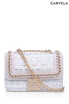 Carvela Cream Mini Bailey Cross-Body Bag