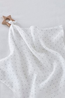 The White Company Muslin And Wooden Teether