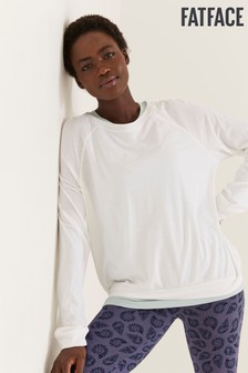 FatFace White Belle 3/4 Lounge Top