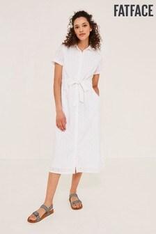 FatFace Carey Broderie Shirt Dress