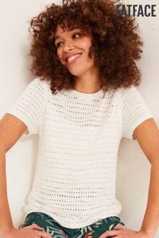 FatFace White Faye T-Shirt