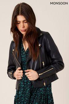 Monsoon Leather Biker Jacket