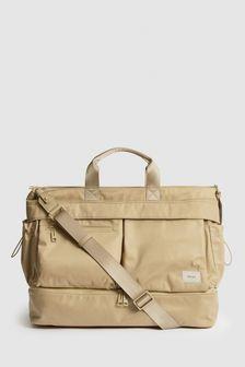 REISS Lennox Nylon Weekend Bag
