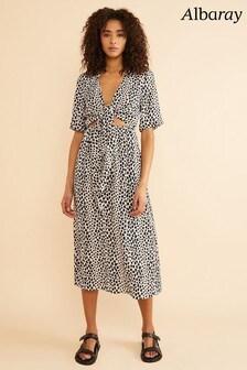 Albaray Animal Cheetah Print Multi Tie Midi Dress