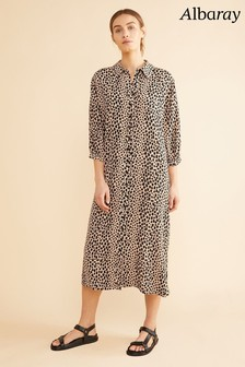 Albaray Animal Cheetah Print Easy Shirt Dress