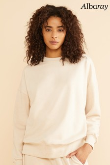 Albaray Cream Crew Neck Sweatshirt
