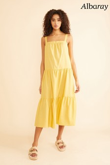 Albaray Yellow Tiered Dress