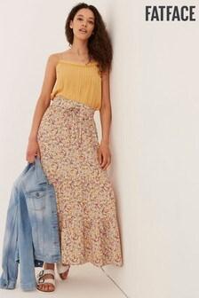 FatFace Nora Gathered Floral Maxi Skirt