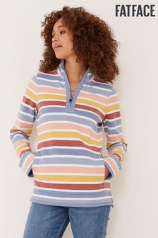FatFace Airlie Rainbow Stripe Sweat Top