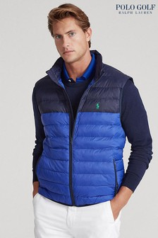 Polo Golf by Ralph Lauren Blue Packable Water Repellent Gilet