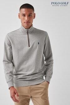 Polo Golf by Ralph Lauren Grey Lightweight 1/4 Zip Sweater