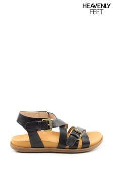 Heavenly Feet Apollo Ladies Black Sandals