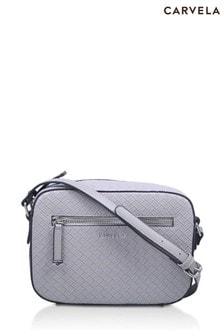Carvela Grey Daisy Weave Cross Body Bag
