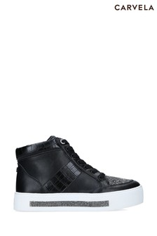 Carvela Black Jeo High Top Trainers