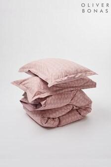 Oliver Bonas Pink Moe Duvet Cover and Pillowcase Set