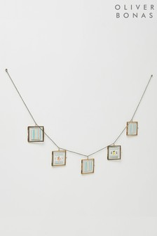 Oliver Bonas Gold And Glass Lace Garland Frame