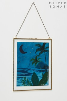 Oliver Bonas Gold And Glass Lace Hanging Frame
