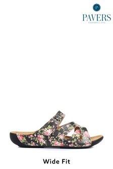 Pavers Ladies Wide Fit Mule Sandals