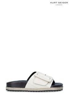 Kurt Geiger London Cream Daniella Slide Sandals
