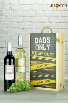 Dads Only French Wine Twin Gift by Le Bon Vin