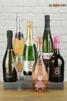 Sparkling Wine Celebration Mixed Case of 6 Bottles by Le Bon Vin
