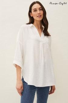 Phase Eight Cream Cynthia Longline Shirt