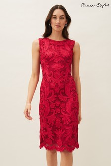 Phase Eight Pink Violetta Tapework Dress