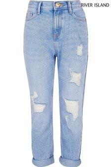 River Island Blue Topaz Mom Jeans