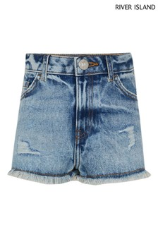 River Island Denim Authentic Mom Shorts