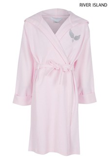 River Island Pink Waffle Robe