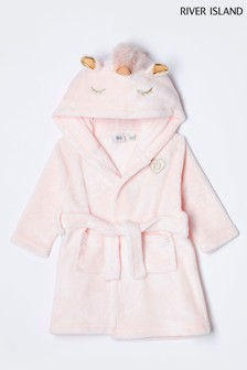 River Island Pink Unicorn Dressing Gown