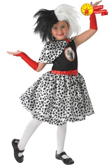 Rubies Child Disney Princess Cruella Fancy Dress Costume