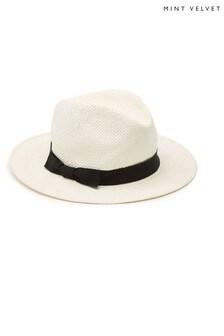 Mint Velvet White Panama Hat