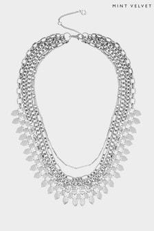 Mint Velvet Silver Tone Layer Necklace
