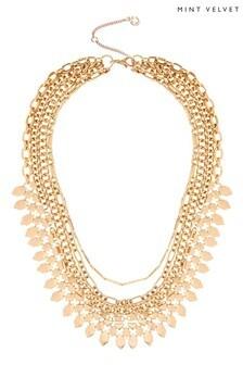 Mint Velvet Gold Tone Boho Layer Necklace