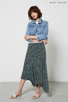 Mint Velvet Natasha Floral Midi Skirt
