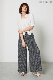 Mint Velvet Sienna Crop Wide Leg Trousers