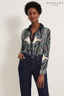 Damsel In A Dress Multi Sedona Paisley Pattern Shirt