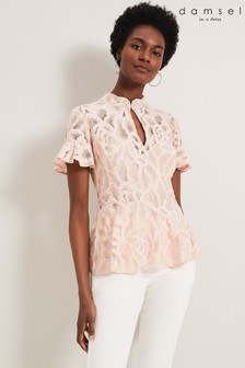 Damsel In A Dress Natural Lulu Lace Top