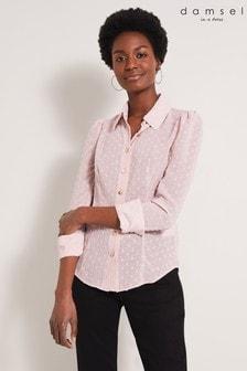 Damsel In A Dress Natural Fraya Textured Shirt