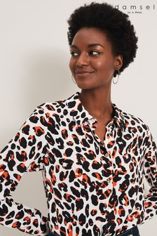 Damsel In A Dress Orange Urban Leopard Blouse