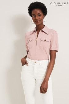 Damsel In A Dress Pink Kadie Short Sleeve Top