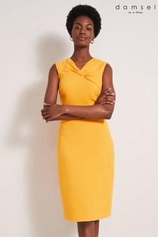 Damsel In A Dress Orange Alanis Fitted Dress