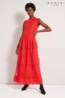 Damsel In A Dress Red Darcie Lace Maxi Dress