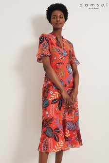 Damsel In A Dress Red Lara Tropical Floral Dress