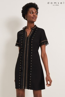 Damsel In A Dress Black Kara Eyelet Dress
