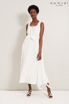 Damsel In A Dress Cream Mattie Bow Dress