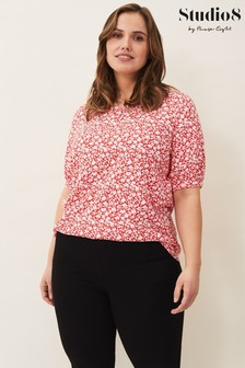 Studio 8 Red Gemma Ditsy Floral Top