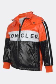Moncler Enfant Kids Orange & Black Hexagon Jacket