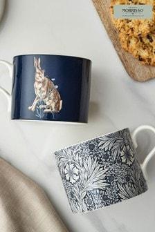 Set of 2 Morris & Co. Marigold & Hare Mugs
